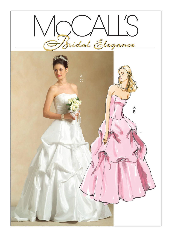 Hochziehen Sie 5321 McCall Braut Eleganz Hochzeit Ballkleid