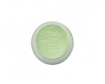 Powder box dark green color
