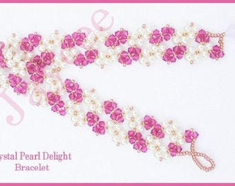 Beading Tutorial - Crystal Pearl Delight Bracelet - Triangle Weave