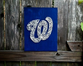 Washington Nationals String Art, Washington DC, Washington Nationals, Washington DC Art, Sports team art, Mancave Art, Mancave Sign