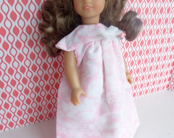 """Vintage PINK PARTY DRESS or Nightie for Mini American Girl and other 7""""-7.5"""" dolls like Lottie, Garden Gals, Lesney Ginny"""