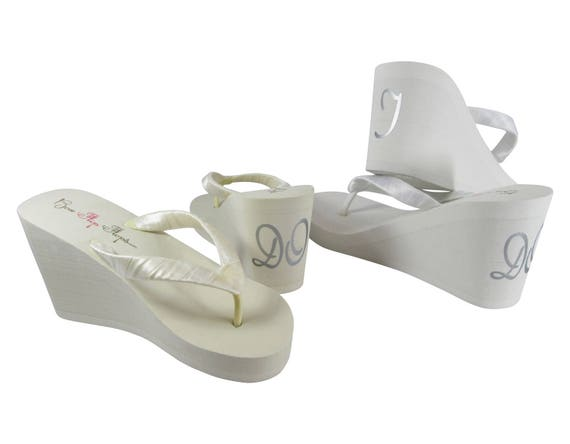 I Colors Sandals Heels Pick White or amp; Red DO You Flip Platform Flops Wedge Ivory Wedding Bridal rvOgr4q