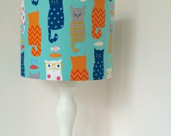 Snazzy Cats Handmade Lampshade