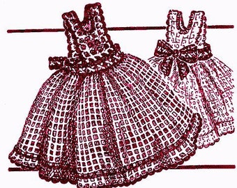 Pinafore Dishcloth Crochet Pattern 723069