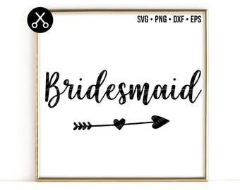 Bridesmaid svg - wedding svg - Bride Tribe svg - groom svg - svg dxf eps cut file - silhouette - cricut - cutting machine