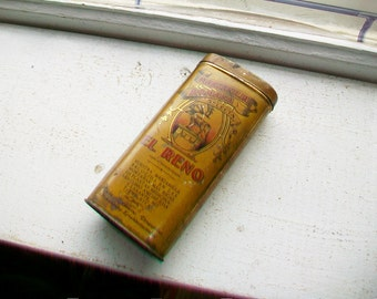 Vintage Tea Tin El Reno Spanish Tin Manzanilla Romana Selecta
