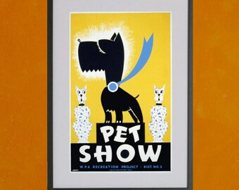 Pet Show, WPA Poster, 1939 - 8.5 x 11 Poster Print - also available in 13x19 - see listing details
