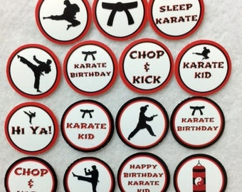 Set Of 50/100/150/200 Personalized Karate Martial Arts Birthday Party 1 Inch Circle Confetti