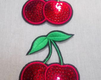 1 patch fusible cherry Cherry