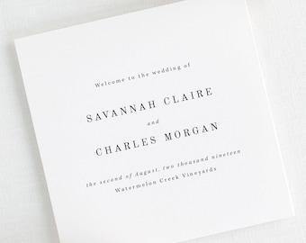Savannah Wedding Programs - Deposit