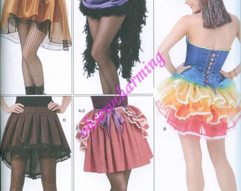 Simplicity 1346 Mini Tutu Skirt and Over Bustle Sewing Pattern Sizes 14-16-18-20-22 Steampunk Goth Burlesque Carnival Costume