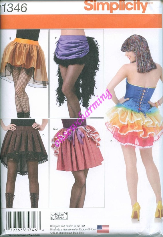 Simplicity 1346 Mini Tutu Skirt and Over Bustle Sewing Pattern