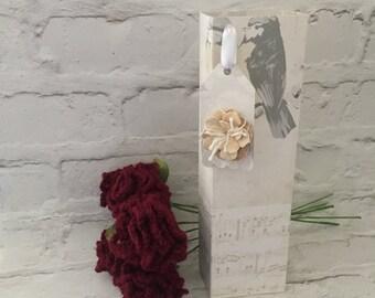 Burgundy crochet flower, crochet flowers, wool anniversary, crochet, crochet bouquet, crochet gift,