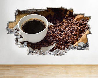 A076 Coffee Beans Cup Kitchen Caf