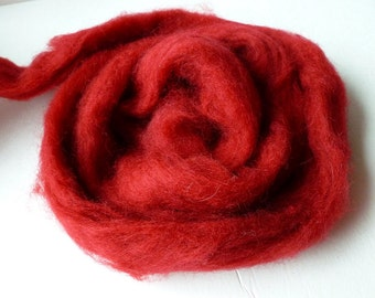Cranberry Romney and Merino Blend Wool Roving