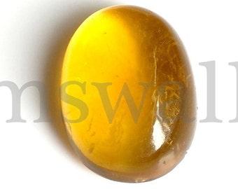 Fluorite Oval Cabochon, Natural Yellow Fluorite Cabochon, 29x22 MM, Fluorite Smooth Cabochon, 76  Cts, Yellow Fluorite Loose Gemstone.