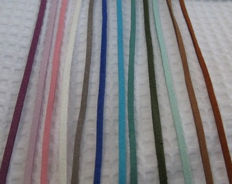 3mm suede cord in a variety of colours