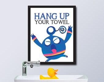 PRINTABLE Monster House Rule / Hang Up Your Towel / Instant Download / 8 x 10 Digital Download