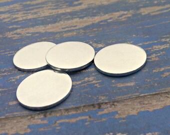 Aluminum 3/4 inch Round Stamping Blanks - 16G Aluminum