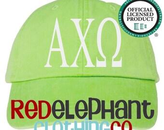 Alpha Chi Omega Hat, Sorority Hat, Monogrammed Baseball Cap, Personalize Baseball Hat, Sorority Gift, Embroidered Ball Cap, Monogrammed Cap