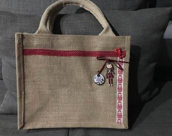 """burlap tote bag natural 26 x 22 """"great Mom"""""""