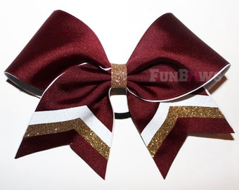 Amazing Custom school colors cheer bow - customize it - by FunBows !