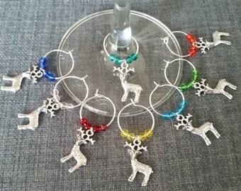 Wine Charms Reindeer