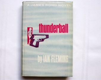 James Bond Novel, Thenderball Novel, James Bond Book , Ian Fleming Book, Vintage James Bond Book