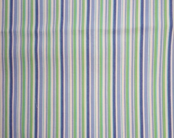 Green and Blue Striped Denim