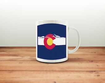 Colorado Flag Mountains Mug