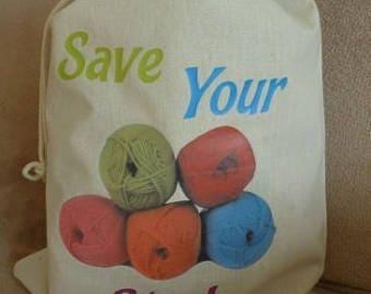 Craft Storage Bags / Sacks - Knitting, Sewing, Material, Fabrics, Christmas