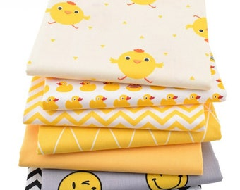 1pcs Chicken & DUCK  Cotton Fabric,Pure Cotton Printed Fabric - 20 Inch x 60 Inch