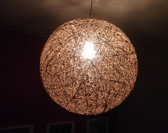 "Sphere pendant light, bar lighting, rustic design light, modern design pendant light, lighting fixture, shadow design lamp. 45cm- 18"""