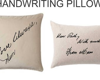 Custom Handwriting Pillow