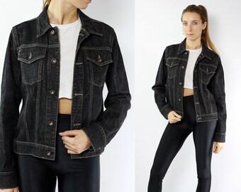Denim Jacket / Jean Jacket XS / Jean Jacket / Denim Jacket Grey / Jean jacket Grey / Denim Jacket XS / DKNY Jacket / Small Denim Jacket