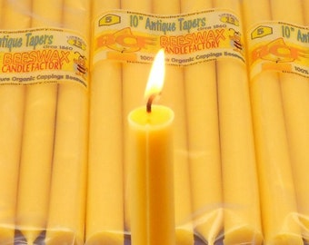 Beeswax Candles, 25 Beeswax Tapers, Antique Candles, Beeswax Taper Candles, Dinner Candles, Dining Candles, Wedding Candles