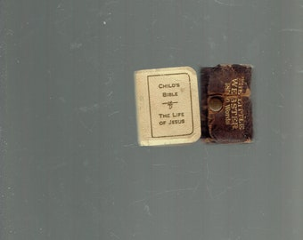 child's miniature bible the life of jesus,the little webster over 180,000 words bible 1932.webster printed in germany