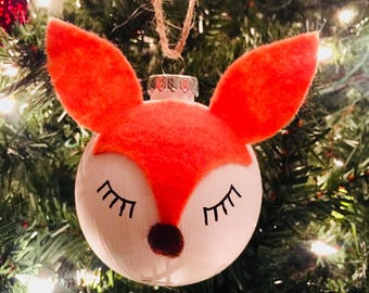 Sleepy Fox Ornament