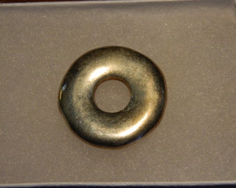 Silver Disk Pendant