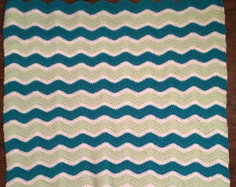 Crochet ripple throw