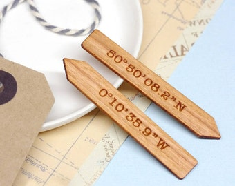 Collar Stays, Personalised Wooden Collar Stiffener, Coordinate Collar Stays, 5th Anniversary Gift, Coordinate Collar Stiffeners