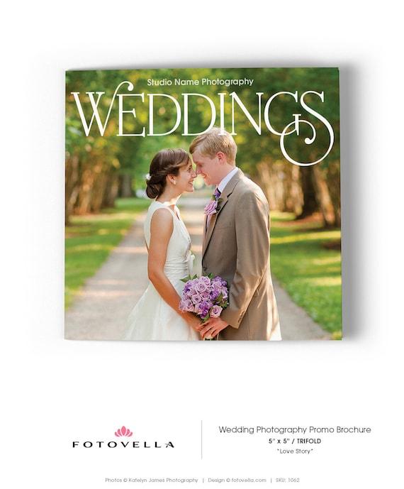 Wedding photography 5x5 trifold brochure template love story like this item saigontimesfo