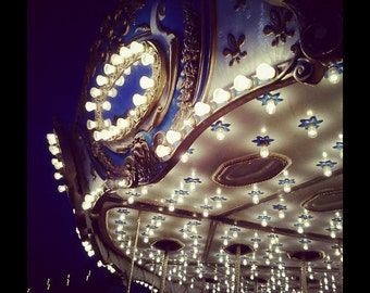 Carousel Lights at Night Print