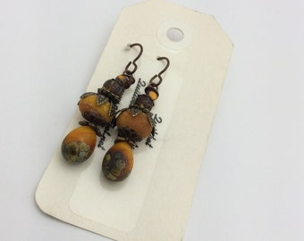 ABO Artisan Made Lamp Work Glass Earrings