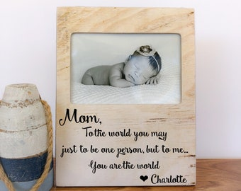 Mom Frame Mother's Day Gift for Mom From Kids Son Daughter Mom Frame Mom Birthday Gift Mothers Day 2018