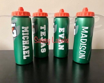 Custom Personalize Name on Sports Water Bottles Made to order perfect for summer