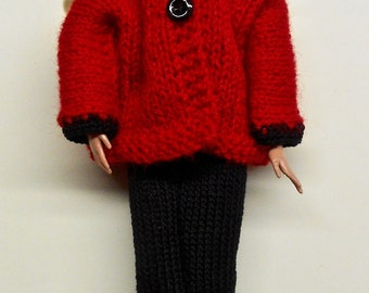 Barbie Coat with Pants, Cap and Shoes