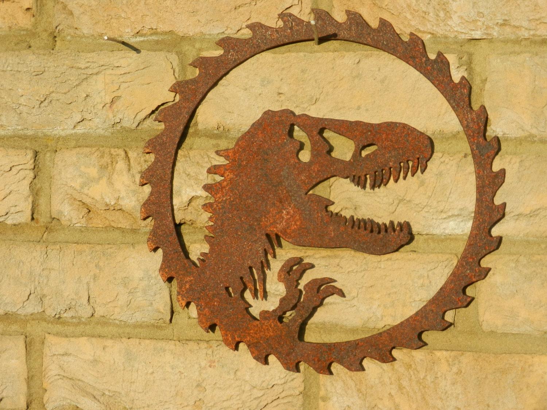 Dinosaur Wall Art / Jurassic Park Wall Art / Metal Dinosaur