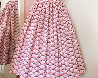 mermaid gathered skirt