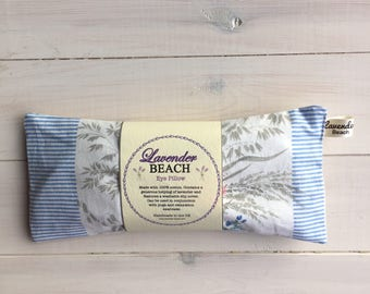 Lavender Eye Pillow, Yoga Eye Pillow with removable slip-cover, Lavender Pillow with cover made from soft vintage fabric, Mindfulness pillow